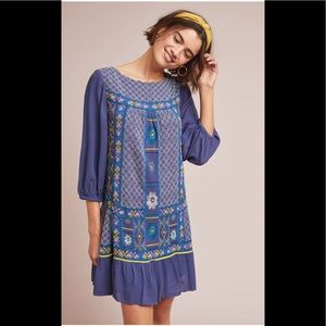 NWT Anthropologie Patna Embroidered Tunic Dress